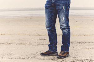 spodnie dla mężczyzny z grubymi udami